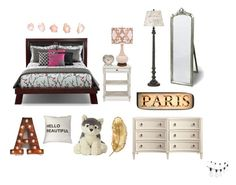 """""""Paris Dream Bedroom"""" by mikage44 on Polyvore featuring interior, interiors, interior design, home, home decor, interior decorating, Sass & Belle, Shine by S.H.O, Room Essentials and Crate and Barrel"""