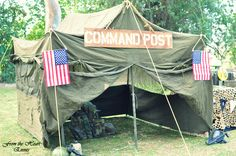 Fun Military Party.  See more party ideas at CatchMyParty.com.  #militarypartyideas