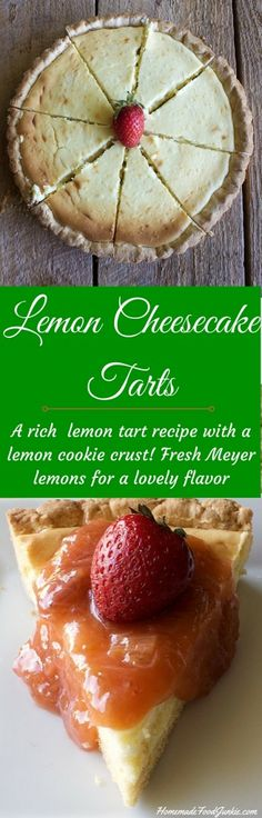 Lemon Cheesecake Tarts are easy to make and delicious. A lemon cookie crust complements this tart so well. Get ready for spring!