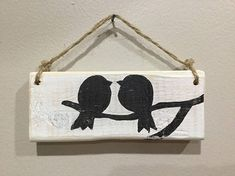 Small Distressed Bird Sign Bird Sign Love Bird Sign Love