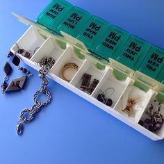 The Beading Gem's Journal: Pill Organizer as Travel Case for Jewelry