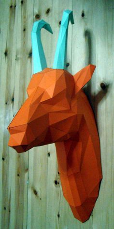 LOW POLY GOAT HEAD (AIGA) SELL ON Etsy.com
