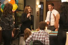 "On Bones Season 12 Episode 2, the team investigates a unique case, and Brennan has special plans for her birthday. Check out these photos for a sneak peek of ""The Brain in the Bot."""