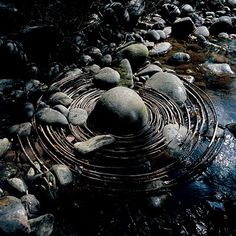 Got wire and a dry stream bed?  Sure looks like ripples! Andrew Goldsworthy