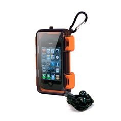 Eco Pod Waterproof iPhone Case with Ear Buds