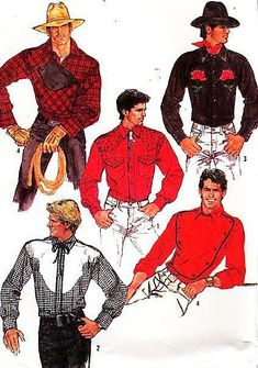 Mostly signs (some portents) Cowgirl Dresses, Cowboy Outfits, Rodeo Shirts, Western Shirts, Vintage Western Wear, Vintage Men, Vintage Outfits, Vintage Fashion, Vintage Sewing Patterns