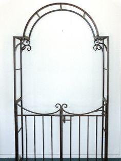 Garden Gate Arch Arbor Trellis Wrought Iron Powder Coated Quality NEW | eBay