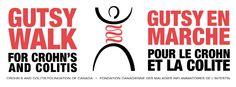 Gutsy Walk Logo: Gutsy Walk & Gutsy en Marche (Bilingual & FB Friendly)