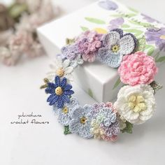 Crochet Jewelry Patterns, Crochet Accessories, Hobbies And Crafts, Diy And Crafts, Knitted Flowers, Art Bag, Knit Crochet, Crochet Earrings, Embroidery