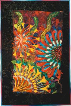 """""""Life in the Margins"""" by Caryl Bryer Fallert      looks like it might be a stack and wack pattern"""