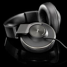 AKG K550 - slick headphone design with large earcups that fold flat for easy storage.