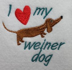 Doxie Dachshund Machine Embroidery File ONLY  I by WingsicalWhims