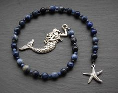 Sea Witch's Pagan Prayer Beads/Witch's Ladder/Witches' Ladder. Pagan Druid Wicca Witch Domnu Brigid Morgan Water Ocean Sea Mermaid Magic by CauldronCraftsUK on Etsy https://www.etsy.com/uk/listing/232914018/sea-witchs-pagan-prayer-beadswitchs