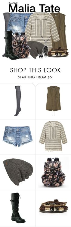 """Teen Wolf"" by wearwhatyouwatch ❤ liked on Polyvore featuring NLST, H&M, SUNO New York, Free People, Candie's, King Baby Studio, television and wearwhatyouwatch"