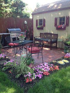 Backyard cooking area