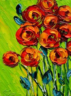 Flowers -- Oil Painting
