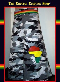 Rasta Skirt Africa Print Reggae Vibes by CrucialCulture on Etsy, $47.77