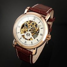 Men's Automatic Self Wind Analog Hollow Engraving Skeleton Watch. Get incredible discounts up to Off at Light in the Box using Coupon and Promo Codes. Mens Skeleton Watch, Skeleton Watches, Waterproof Watch, Automatic Watch, Chronograph, Best Sellers, Black And Brown, Watches For Men, Leather