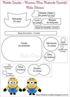 Molde Minions - Capa celular