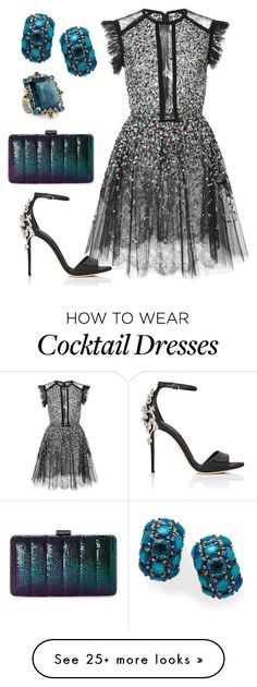 """Black Sparkle"" by quelinda626 on Polyvore featuring Elie Saab, Dolce&Gabbana, Konstantino, Ippolita and Jessica McClintock"