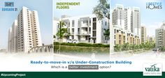 There is always a confusion for home buyers whether they should opt for ready to move in flats or under construction flats.