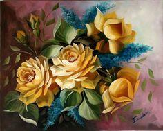 arranjo rosas amarelas