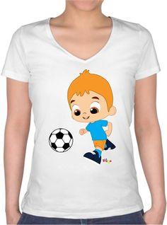 Mete - Futbol Zamanı - Kendin Tasarla - Bayan V Yaka Tişört