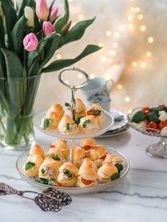 Suolaiset Tuulihatut Savory Pastry, Savoury Baking, Always Hungry, Afternoon Tea, Bon Appetit, Party Time, Goodies, Favorite Recipes, Snacks