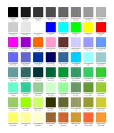 Paint Name w/ color names in english french, these paint chip place mats are