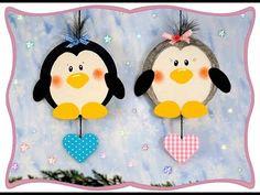Runde Bierdeckel-Pinguine, Basteln mit Kindern - YouTube