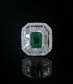 275 Ct Colombian emerald and Diamonds