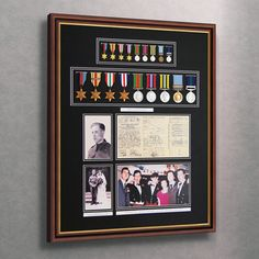 Display your #Medals on your wall at home with our bespoke #MedalFrames to suit your individual specification, made to order to fit any number of medals – these frames make a wonderful gift or a family heirloom for the family to cherish.