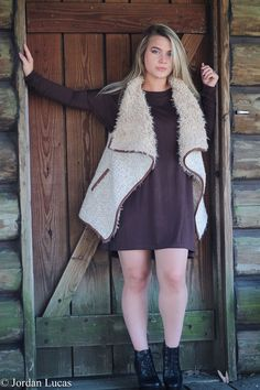 Classic Piko Dress-Brown and Black available