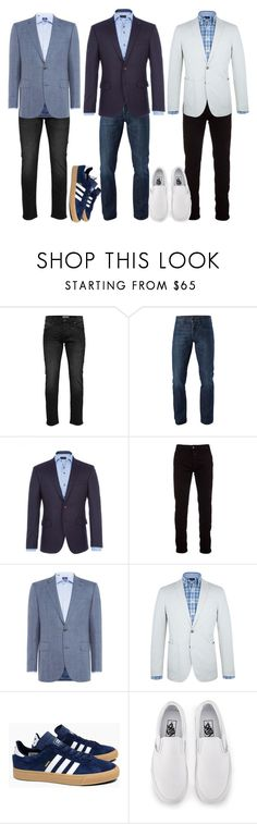 """""""1"""" by apduyer ❤ liked on Polyvore featuring Only & Sons, 3x1, Baumler, Marcelo Burlon, Chester Barrie, Paul Costelloe, adidas, Vans, men's fashion and menswear"""