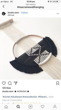 Macrame Art, Macrame Projects, Macrame Knots, Micro Macrame, Weaving Art, Loom Weaving, Crafts To Do, Yarn Crafts, Crafty Craft