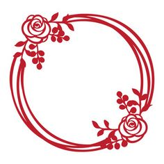 Silhouette Design Store: round floral frame