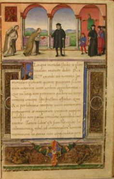 """""""Vita Johannis blessed to Tauxignano, episcopi Ferrariae""""  Blessed John Tavelli (born in Tossignano at Imola in 1386 and died in 1446), he studied law at Bologna; in 1408 he entered the new congregation of the Jesuits and he made his novitiate in Venice. Calligrapher, translator and author of texts, in 1426 he became rector of the Congregation of the Jesuits of Ferrara, the Este in the city, built the church of San Girolamo and several years after the hospital of St. Anne. The January 1…"""