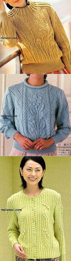 Вязаные пуловеры с цветами | Вяжем с Ланой ÕPETUS: http://mslanavi.com/2014/01/vyazanye-pulovery-s-cvetami/