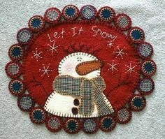 primitive wool applique patterns | Wool Penny Rug Pillow Felted Applique Quilt Pattern Ebay - kootation ...