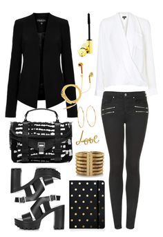 """""""TOPSHOP Tall Georgina Blazer"""" by thestyleartisan ❤ liked on Polyvore"""