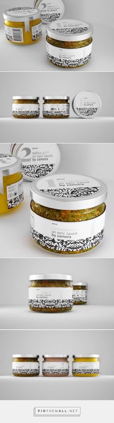 An Epic Sauce By Zamora - Packaging of the World - Creative Package Design… Spices Packaging, Glass Packaging, Bakery Packaging, Food Packaging Design, Brand Packaging, Spice Labels, Food Labels, Mr Fries, Bottle Design