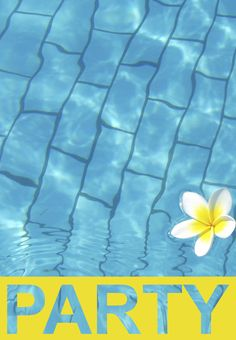 pool party invitations template   template, pools and birthdays, Powerpoint templates