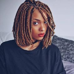 #braidstyle SO SLAY!The braid style with such amazing color looks so perfect @olaj_arel