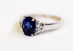 Another modern beauty. #sapphire #engagement #wedding
