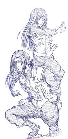 iirehtalasse:  Neji & Hinata I love jonin uniform it's HOT!!! Nejihina