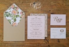 Our Designer Friday invitation set for 11th April 2014 by Crystal Print.