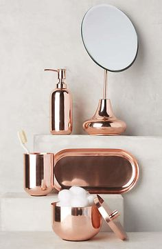 Copper Gleam Bath Collection #anthrofave