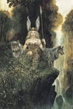 Who was Norse God of Love? Any god in the Norse pantheon embodied certain qualities that could distinguish them from others. In Norse mythology, there was also the god of love, in the sense of loving and being loved. She was goddess Freya - Norse God of L Thor, Norse Goddess, Valkyrie Norse Mythology, Wolf Goddess, Celtic Mythology, Female Armor, Norse Vikings, Sacred Feminine, Asatru