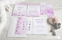 oryginalne zaproszenia ślubne romantyczne pastelowe różowe kwiaty ombre cieniowane akwarela dodatki weselne projekt ślub (3).JPG
