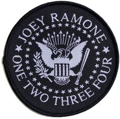 Official Ramones Patch measuring approx 90mm x 90mm featuring the Joey Ramone One Two Three Four design Officially Licensed Merchandise See all